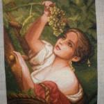 Шелком «рисует» полотна... Гогена и Ван Гога