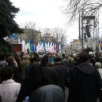 Акція з вимогою відставки президента України Віктора Януковича розрослася в Полтаві до несподіваних масштабів